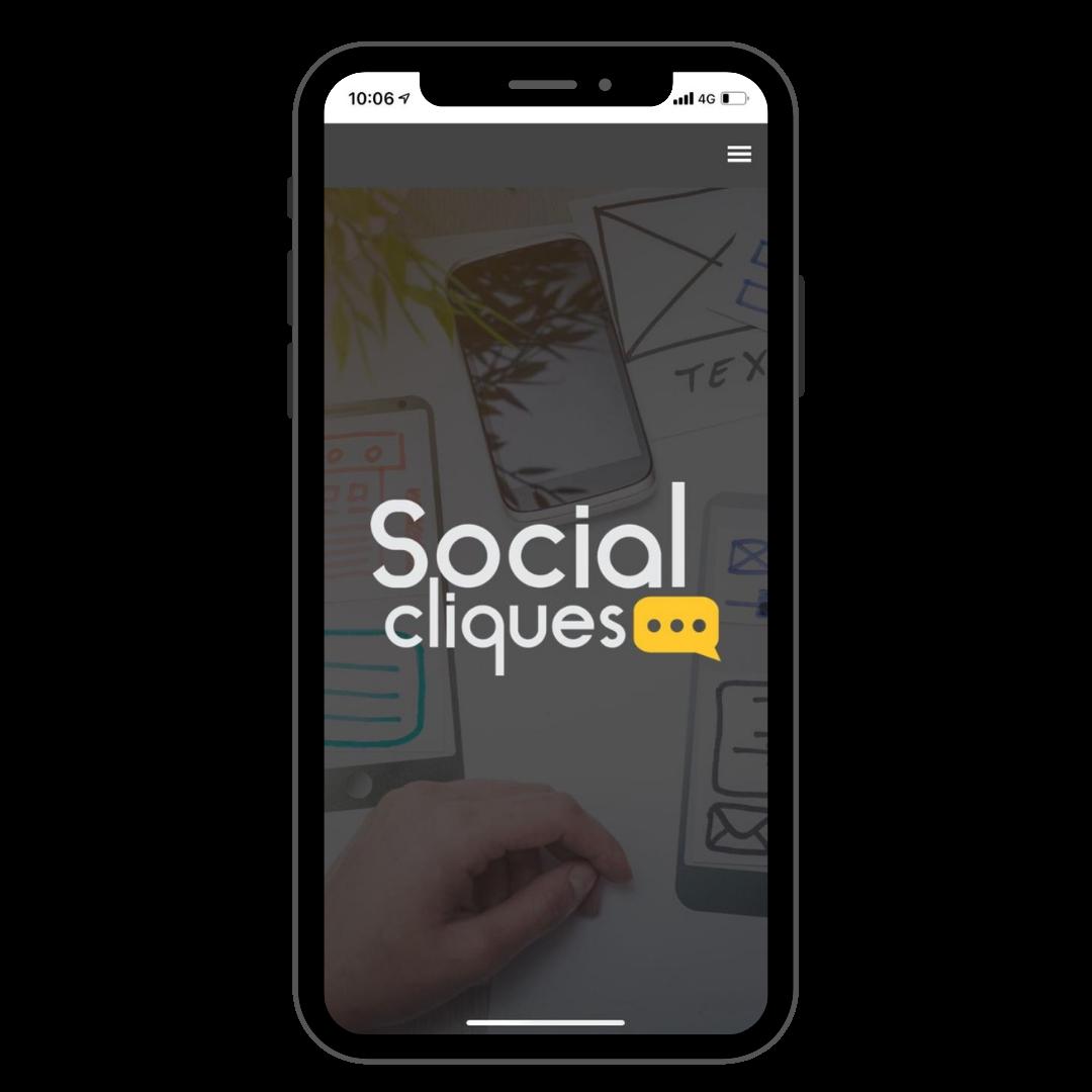 aplicativo social cliques
